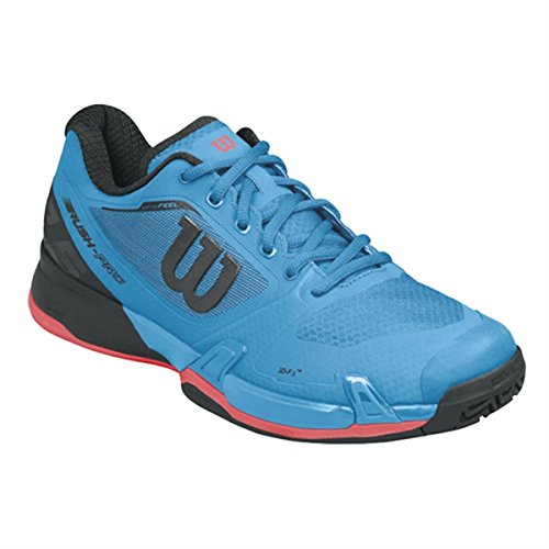 Wilson Rush Pro 2.0 Clay Court, Chaussures de Tennis Homme Bleu (Methyl Blue / Black / Fiery Coral)