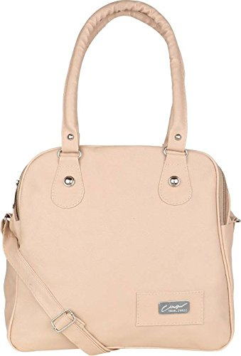 Typify 3 Compartment Handbag with Sling Belt (Cream)