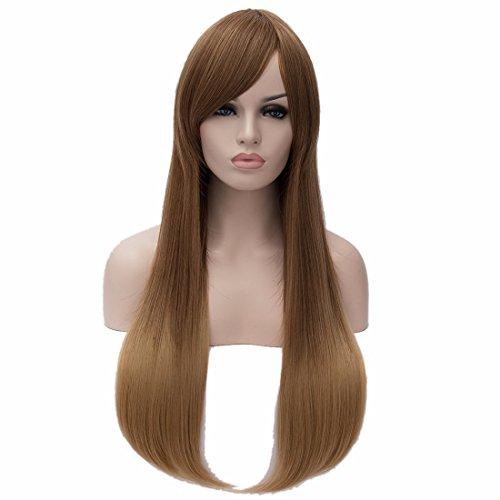 Doux Étudiant Mignon Cos Jye Taille Longue Pleine De Cheveux Synthétiques Rampe Droite Bouchon Perruque