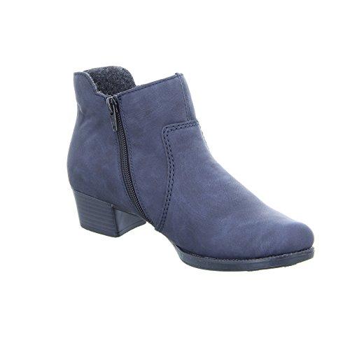 Rieker 76672-15, Stivali donna blu oceano Blau