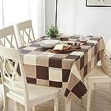 AZHF PVC-Wasserdichte Tischdecke ölbeständig Anti-Verbrühung Anti-Fouling weich einfach zu reinigen rechteckige Tischdecke Restaurant Tischdecke einfache Art Tischdecke