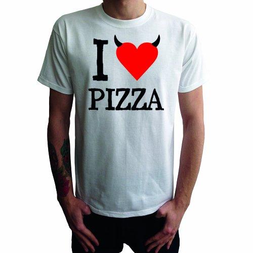 I don't love Pizza Herren T-Shirt Weiß