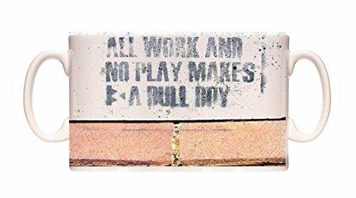 Preisvergleich Produktbild Banksy Mug All Work And No Play Ceramic Cup Gift Box