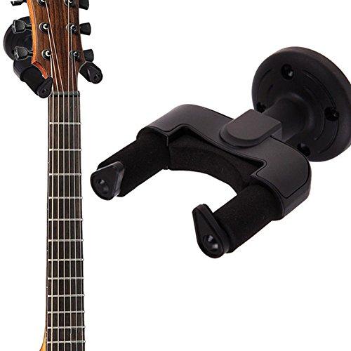 owikar Gitarre Haken Wandhalterung Wandhalter Halterung Wand Display Halter Rack für die meisten Gitarren/Bass/Mandoline/Banjo/Ukulele für Home und Studio -