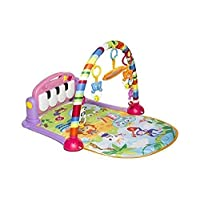 Kick and Play Newborn Toy with Piano for Baby 1 - 36 Month, Lay and Play, Sit and Play, Activity Toys, Play Mat Activity Gym for Baby. Pink (MT-108)