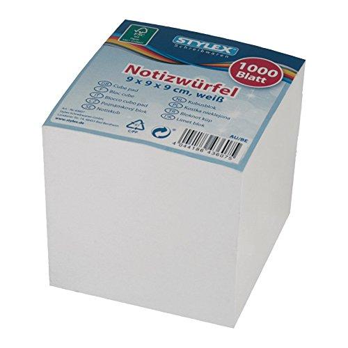 Stylex 43607 Notizwürfel mit weißem Papier
