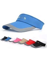 HYSENM Visor Baumwolle Einheitsgröße Unisex Cap mit Klettverschluss Einstellbar Anti-UV für Reisen Radsport Tinnesspielen Kappe