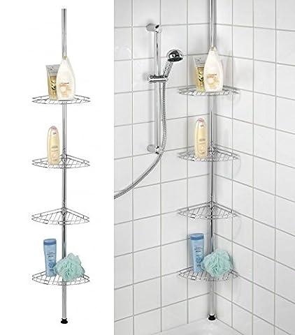 Generic Dyhp-a10-code-2423-class-1-- Caddy étagères de rangement pour étagère Lves Y Tid à 4étages en métal pièce SH d'angle de bain Ner B de douche de salle de bain en métal–-nv _ 1001002423-hp10-uk _ 305