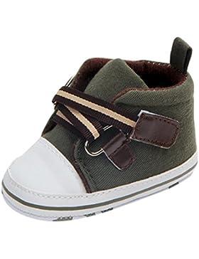 Dragon868 Neugeborenes Baby-Kleinkind-Stern Striped Kreuz-gebundene Anti-Rutsch-Weiche Alleinige Schuhe