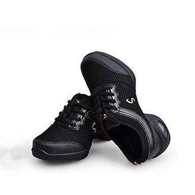 Frauen Tanzschuhe Synthetische Tanz Sneakers Sneakers Low Heel Performance Blau Schwarz / Gold Pink / Schwarz Fuchsia Blue