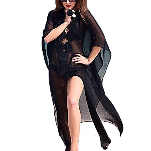 CosPrincely Femme Robe de Plage Mousseline de Soie Paréo Maillot de Bain Cache Bikini Florale Maxi-Longue Sarong