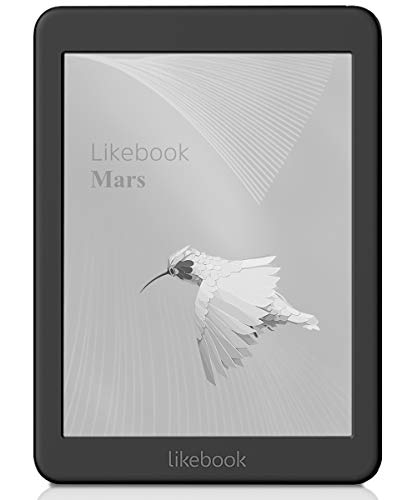 Likebook Mars E-reader - Nero, Schermo Touch E-Ink da 7,8'' (19,8 cm) 300 ppi con 8 Core 1.5GHz, Udibile Integrato, Archiviazione da 16 GB Android System 6.0, Wi-Fi-Include