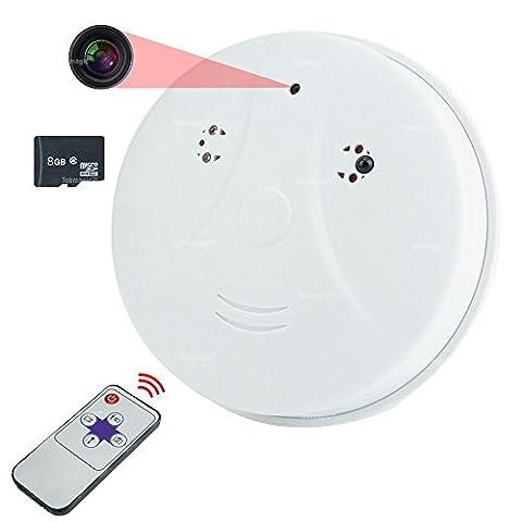TEKMAGIC Espion Caméra Fumée Détecteur 8GB Activé Par Le Mouvement Sécurité Caméscope Mini DVR 1280x720P HD Vidéo Enregistreur