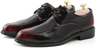 LYZGF Hombres Juventud Primavera Y Otoño Negocios Casual Moda Cordones Puntiagudo Zapatos De Cuero,Red-40