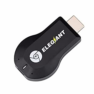 Wireless HDMI Dongle, ELEGIANT Mini drahtlose HDMI WLAN Dongle Empfänger Adapter 1080P Anzeige Airplay Miracast DLNA WiFi TV Display Receiver Empfänger HDMI Media Cast Funktion für Android IOS Smart Phones iphone ipad usw (Größe: 72 * 35 * 12mm)