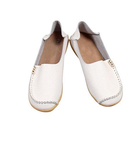 Chaussures Décontractées À Lacets Basses Tendon À La Fin Blanc