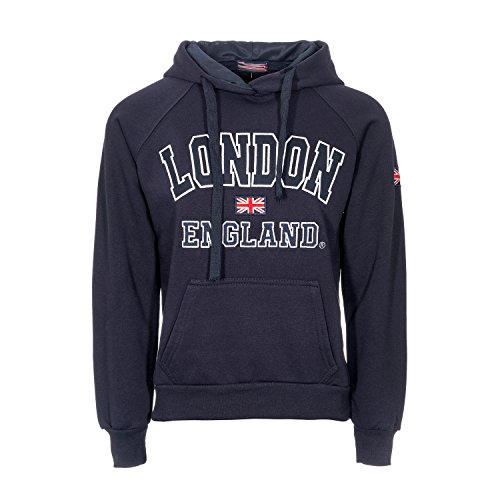 Damen England Hoodys Hoodies Sweatshirts Damen London Union Jack Tops Hoodies Super Quality (M 12, Navy) - London England
