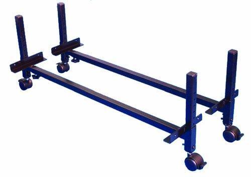Morris & Alexander Gestelle zur Erhöhung von Betten (höhenverstellbar, Höhe7,5-28cm, mit Lenkrollen)