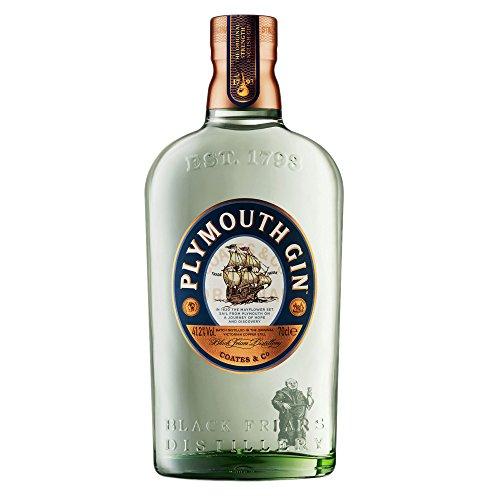 Plymouth Original Strength Dry Gin, Edler und hochwertiger Premium-Wacholderschnaps, nach Dry Gin-Art hergestellt, 1 x 0,7 L