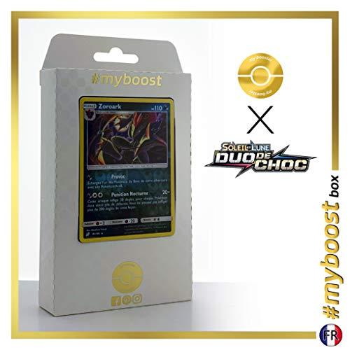 Zoroark 91/181 Holo Reverse - #myboost X Soleil & Lune 9 Duo de Choc - Box de 10 Cartas Pokémon Francés
