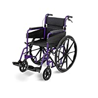 Days Escape Lite Self Propelled Wheelchair – Lightweight Aluminium Folding Wheelchair with Attendant Brakes – Suitable for Indoor and Outdoor Use