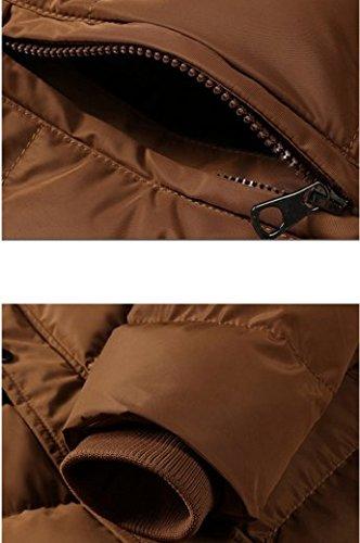 OHmais homme parka manteau d'hiver veste à capuche fourré Jaune