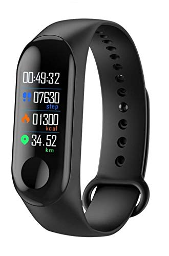 Jumpsy FT-M3 Smart Fitness Tracker Band with Pedometer | Heart Rate Monitor | OLED Display | Waterproof Feature | Bluetooth & Lots More Compatible with All Smartphones,iOS & Windows Devices (Black)