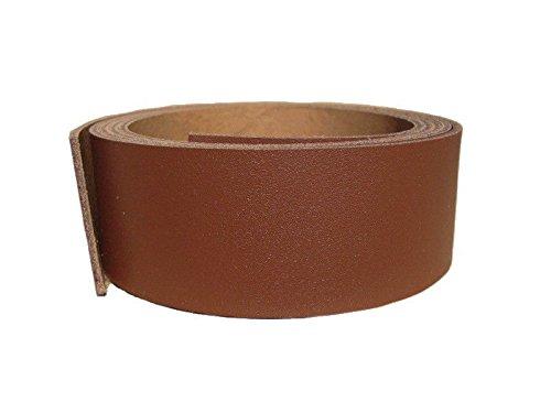 Lederriemen Rindsleder 'Basic', Gürtelleder, Rindleder, Lederband, Farbe:rotbraun 2mm, Breite:5cm breit -