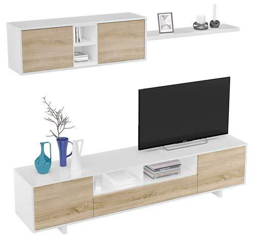 Habitdesign 1F6682BO - Mueble de salón Moderno, modulos Comedor Belus, Medidas: 200...