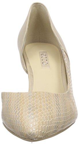 Ecco Ecco Belleair, Chaussures à talons - Avant du pieds couvert femme Beige - Beige (SESAME-SILVER MET/SESAME59735)