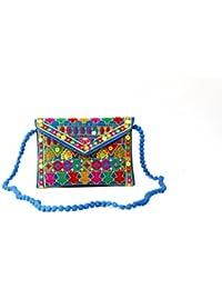 Homeart9 Women's Sling Bag (Embridered Handicraft Traditional Sling Bag,Multi-Coloured) - B077J12VCW
