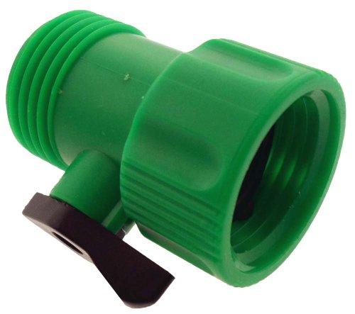 toolusa 4,4 cm Tuyau connecteur pour tuyau d'arrosage ou robinet extérieur avec robinet d'arrêt : lfor-8238