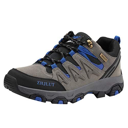 HDUFGJ Herren Damen Trekking-& Wanderschuhe Outdoor-Schuhe Atmungsaktiv rutschfeste Sneaker Leichtgewicht Laufschuhe Bequem Mode Freizeitschuhe Faule Schuhe Turnschuhe fitnessschuhe37 EU(Grau)