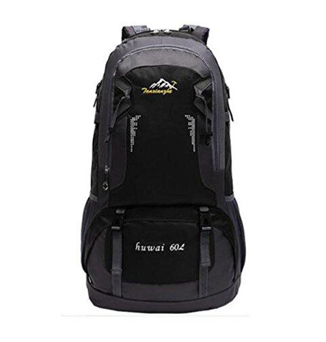 60L Outdoor Sport Rucksack Neu Bergsteigen Tasche Wandern Tasche Black