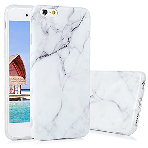 iPhone 6 Marmor Handyhülle,KASOS iPhone 6S Marble Hülle Protective Case TPU Silicone mit IMD Technologie Design,Grau und