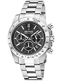 KRONOS - Sport Q Chronograph Grey 969.8.105 - Reloj de Caballero de Cuarzo,