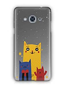 YuBingo Family of Cats Mobile Case Back Cover for Samsung J3 Pro