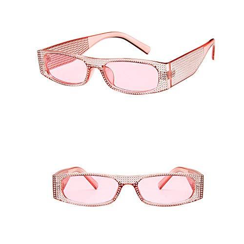 iLOP Brille Diamond Retro-Brille Für Damen der 1950er Jahre eckige Vintagebrille für Karneval Party Kostüm(One size,E)