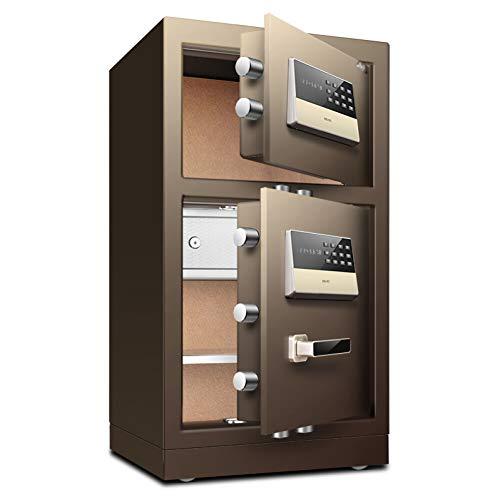 Caja Fuerte de Seguridad Cerradura de Teclado Electrónica Sólida,43x38x80cm Oficina de Hotel...
