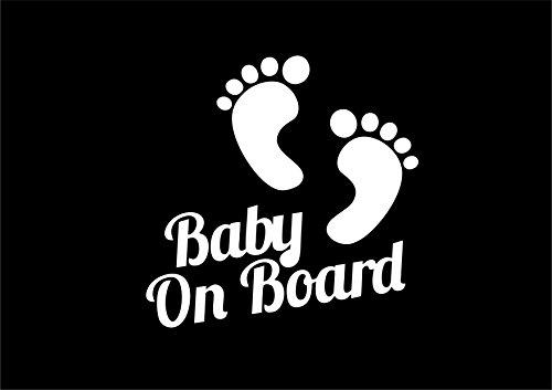 Baby Füße On Board Funny Car Aufkleber Van Fenster Bumper Vinyl Aufkleber -