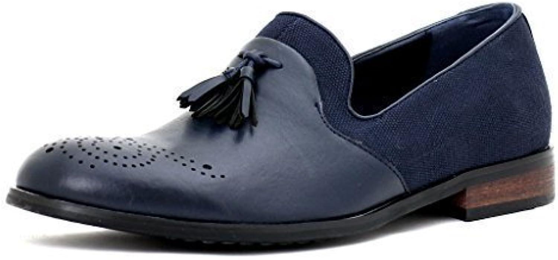 hombre nuevo Vestido Inteligentes Sin Cierres Borla Diseñador Mocasines Informales Bajo resistente zapatos número GB