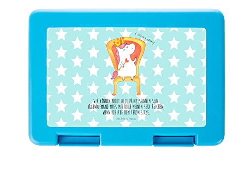(Mr. & Mrs. Panda Brotdose Einhorn König - 100% handmade in Norddeutschland - Essendose, Kind, Brot, Schüler, Krone, Arbeit, König, Frühstück, Brotdose, Kunststoff, Kaiser, Frühstücksdose)