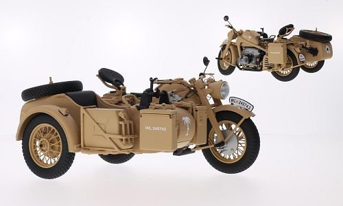 Preisvergleich Produktbild Zündapp KS 750, Afrikakorps, Modellauto, Fertigmodell, Schuco 1:10