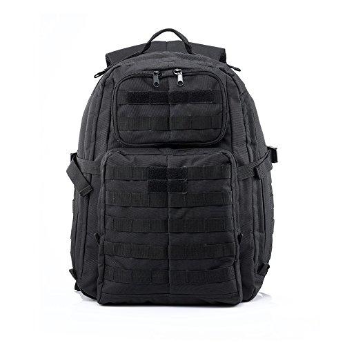 Imagen de yakeda® paquete senderismo bolsa de deporte al aire libre del paquete de campamento camuflaje impermeable camping senderismo trekking bolsa exterior  militares escalada   a88033 negro