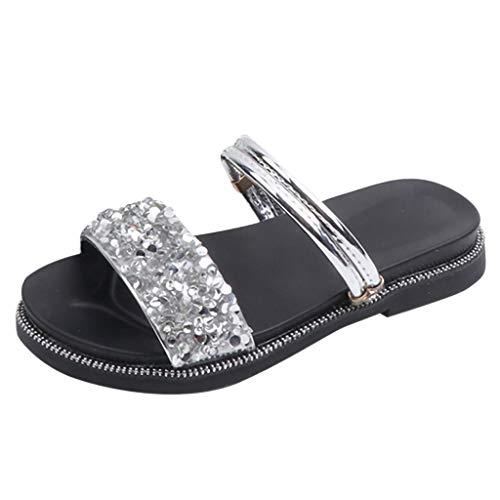 SuperSU Mädchen Sandalen►▷Sommerschuhe Strass Peep Toe Anti Slip Hausschuhe Sandalen Zwei Möglichkeiten,Mädchen Weich Prinzessin Schuhe |Freizeitschuhe |Strandschuhe |Tanzschuhe