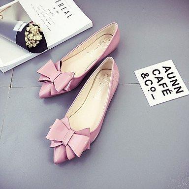 Confortevole ed elegante piatto scarpe donna Appartamenti Primavera Estate altri PU Casual tacco piatto altri nero rosa rosso grigio Black