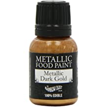 Rainbow Dust Metallic-Lebensmittelfarbe Dark Gold, 1er Pack (1 x 25 ml)