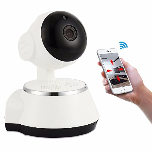 M.Way Drahtlose Wifi IP Kamera Mini Roboter Zuhause ip kamera Baby Monitor überwachungskamera 5v 720p-HD-Netzwerk-Kamera WiFi drahtlose mobile Fernüberwachungskamera Für Home Security Haustier Video Weiß (Roboter Drahtlose)