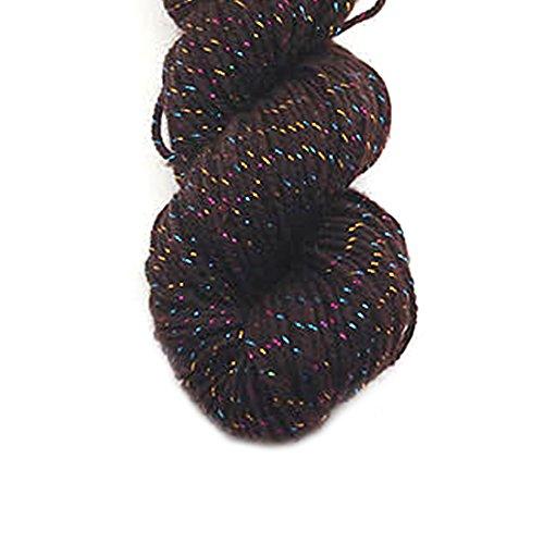 Luxus Acryl Strickwolle Garn für handgemachte Schal Pullover Garn mit Gold Line Kaffee