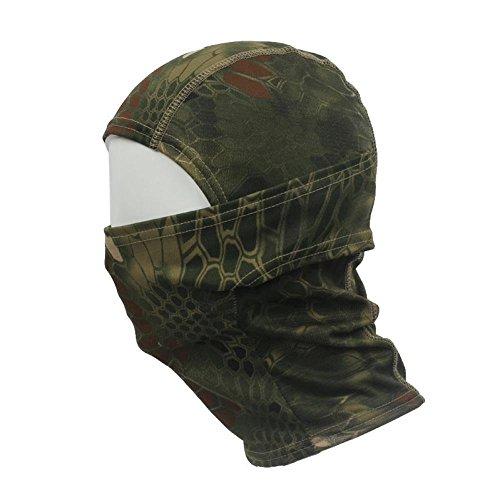 Tonsee Männer Special, Hot Verkauf Männer Hut Camouflage Army Radfahren Motorrad Mütze Balaclava hats voll Gesichtsmaske (grün) (Balaclava Haube)